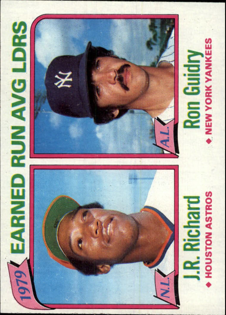1980 Topps #207 ERA Leaders/J.R. Richard/Ron Guidry