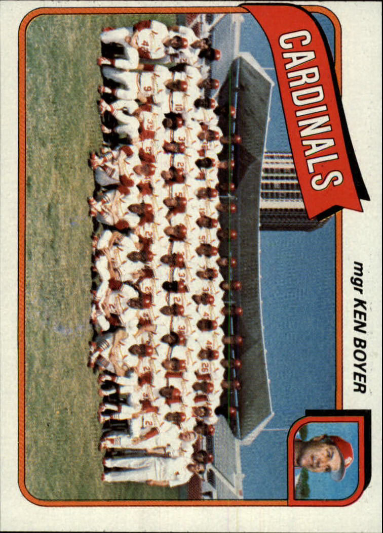 1980 Topps #244 St. Louis Cardinals CL/Ken Boyer MG front image