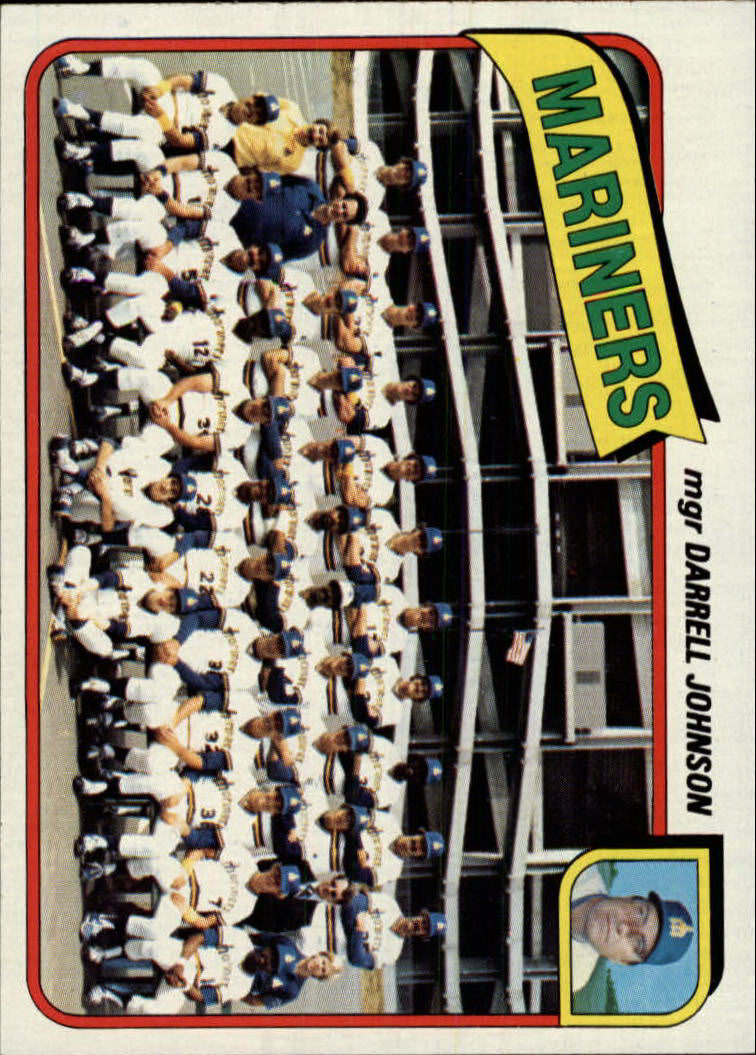 1980 Topps #282 Seattle Mariners CL/Darrell Johnson MG front image