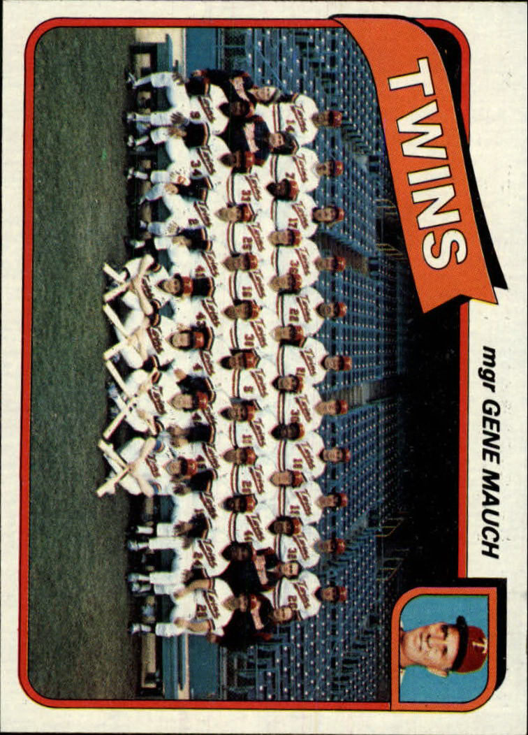 1980 Topps #328 Minnesota Twins CL/Gene Mauch MG