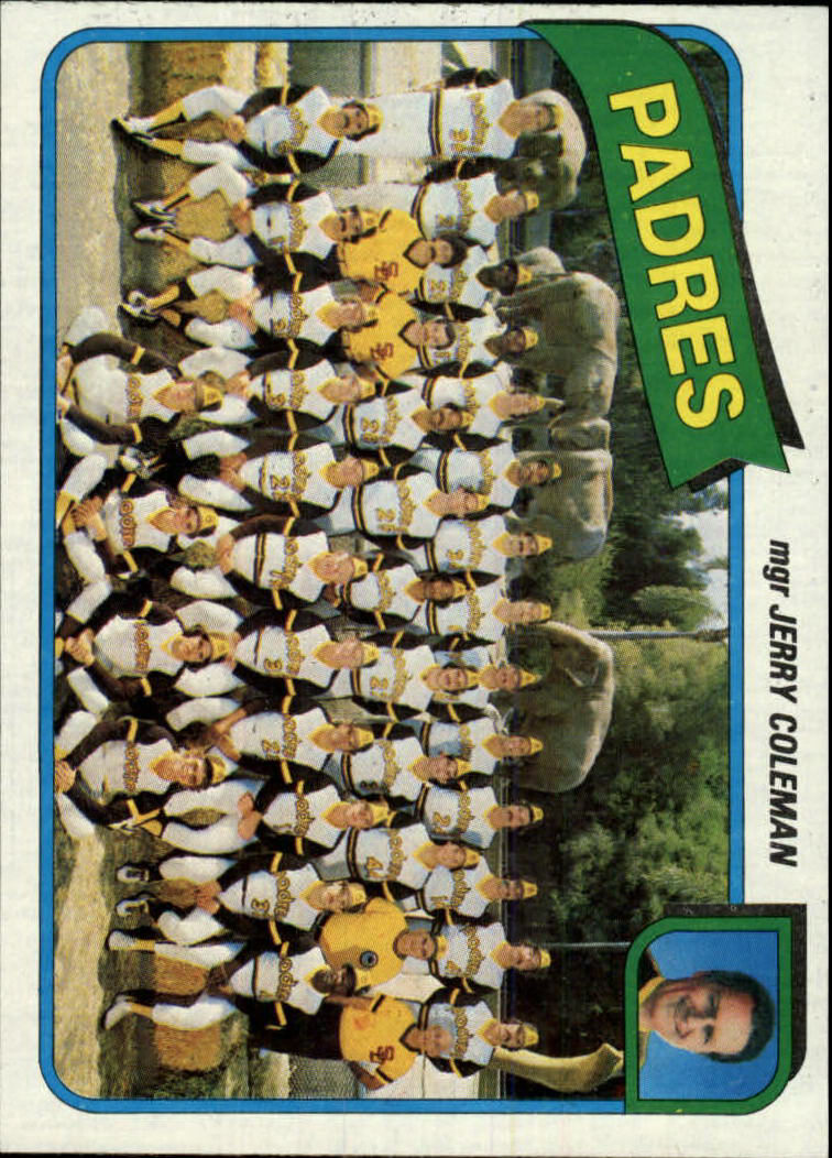 1980 Topps #356 San Diego Padres CL/Jerry Coleman MG