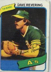 1980 Topps #438 Dave Revering