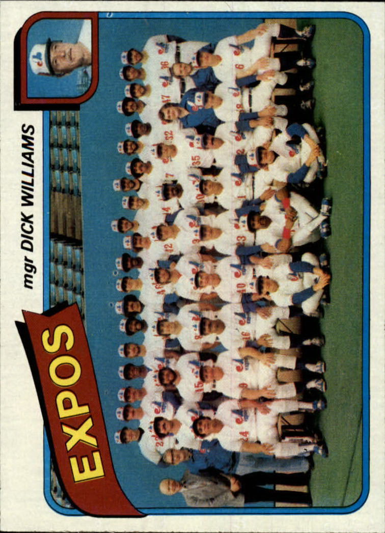 1980 Topps #479 Montreal Expos CL/Dick Williams MG