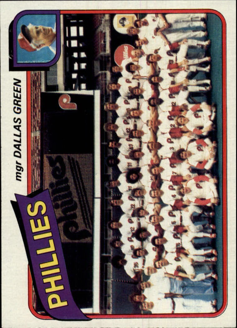 1980 Topps #526 Philadelphia Phillies CL/Dallas Green MG