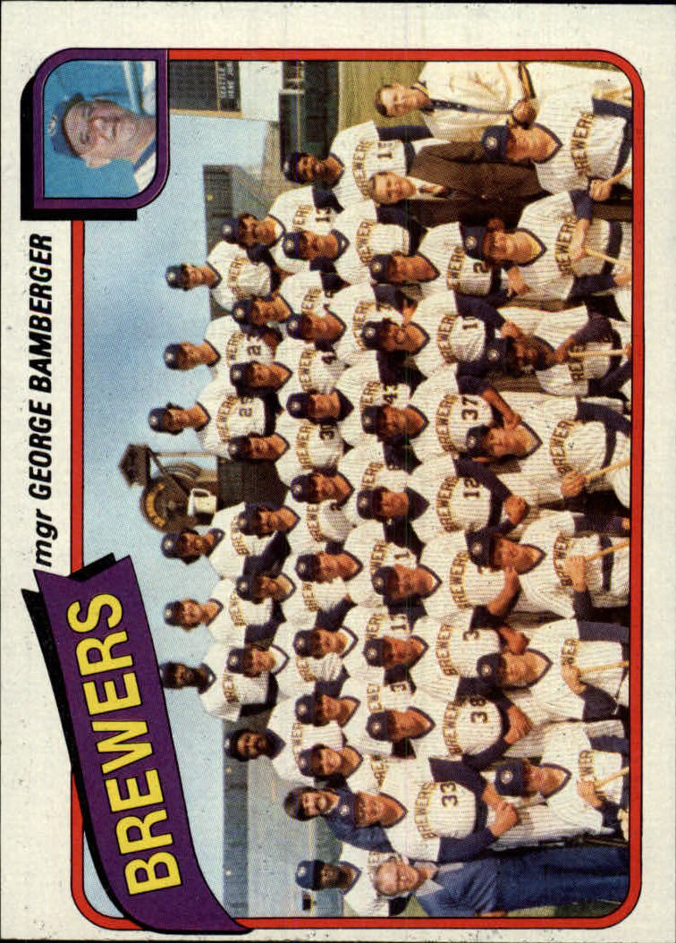 1980 Topps #659 Milwaukee Brewers CL/George Bamberger MG