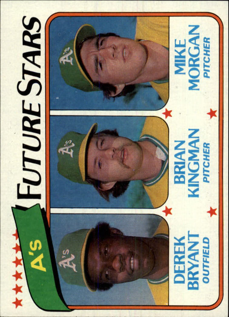 1980 Topps #671 Derek Bryant RC/Brian Kingman RC/Mike Morgan RC