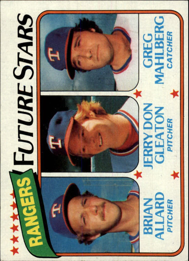 1980 Topps #673 Brian Allard RC/Jerry Don Gleaton RC/Greg Mahlberg RC