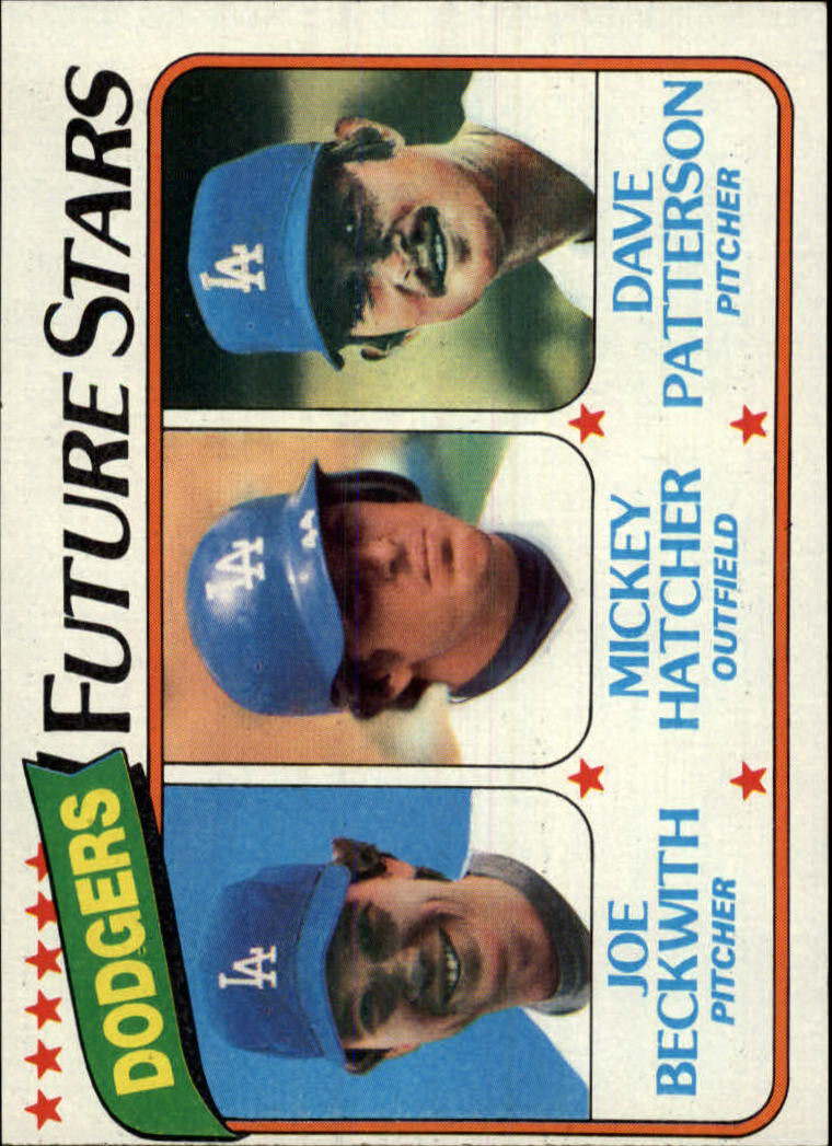 1980 Topps #679 Joe Beckwith RC/Mickey Hatcher RC/Dave Patterson RC