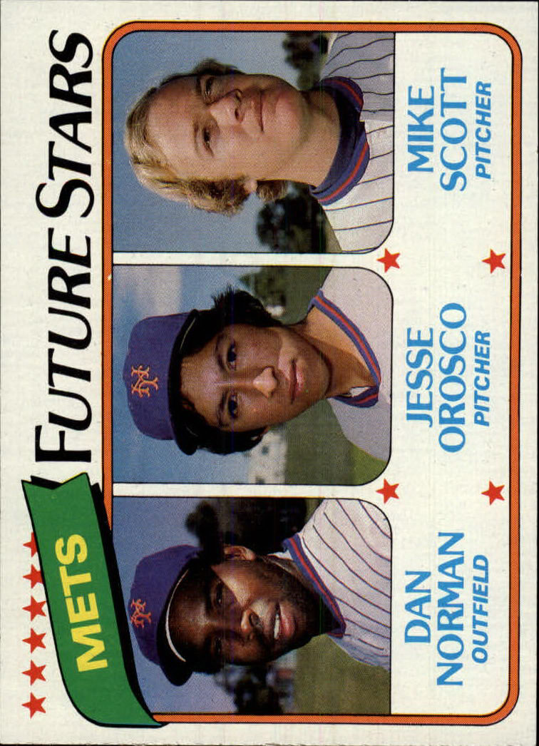 1980 Topps #681 Dan Norman/Jesse Orosco RC/Mike Scott RC