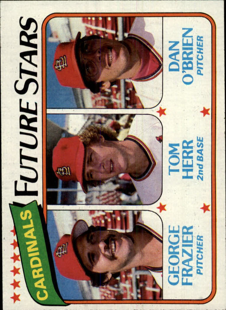 1980 Topps #684 George Frazier/Tom Herr RC/Dan O'Brien RC