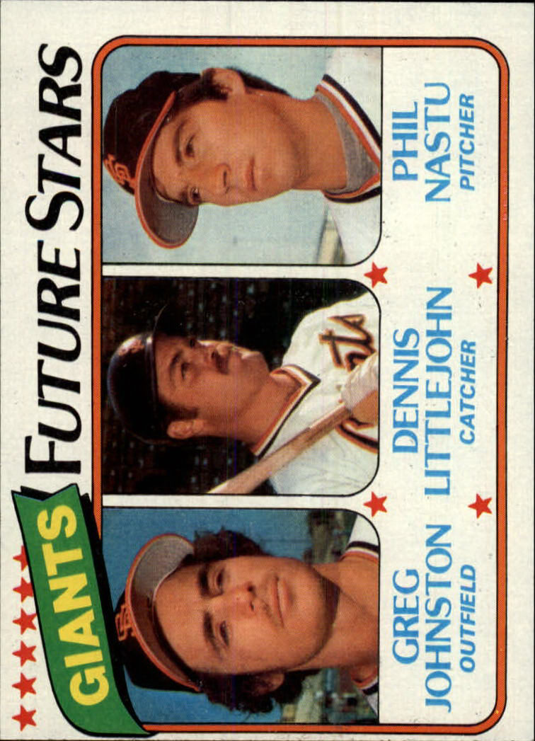 1980 Topps #686 Greg Johnston/Dennis Littlejohn RC/Phil Nastu RC