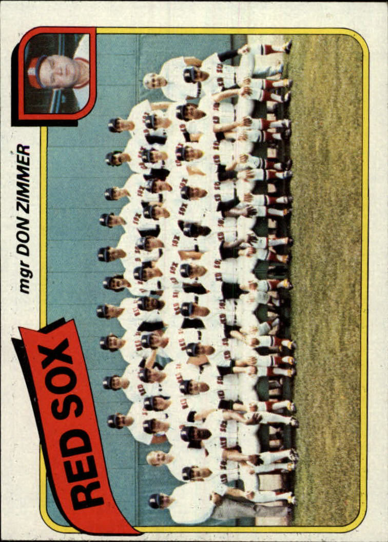 1980 Topps #689 Boston Red Sox CL/Don Zimmer MG
