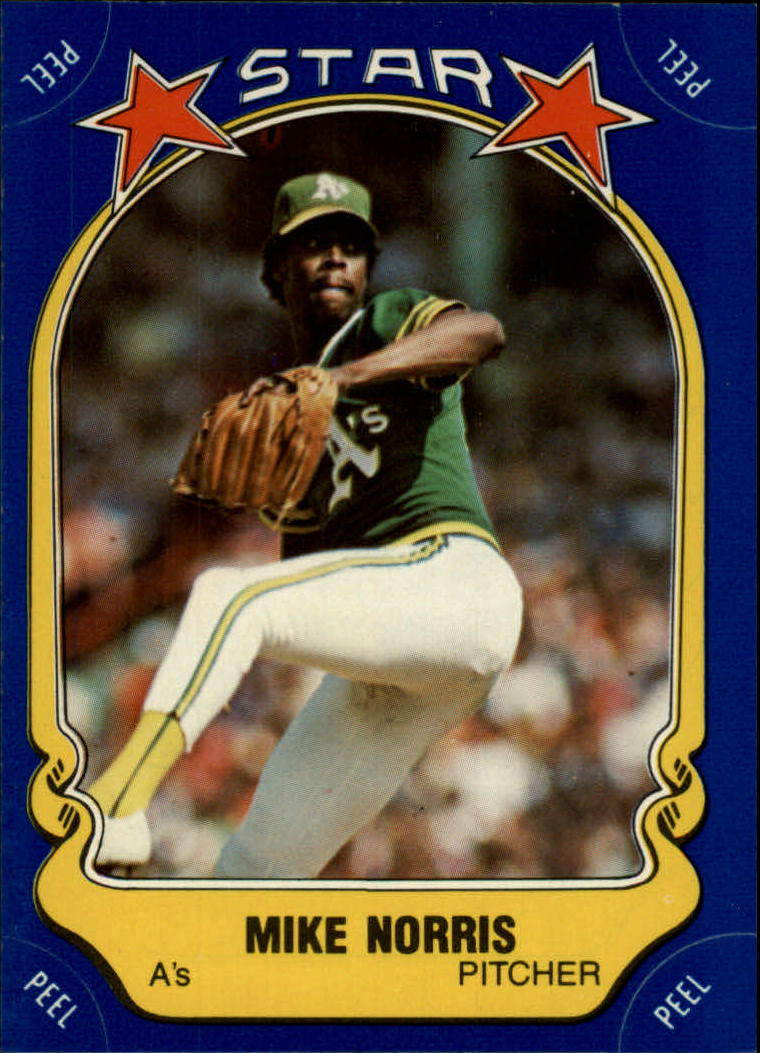 1981 Fleer Star Stickers #6 Mike Norris