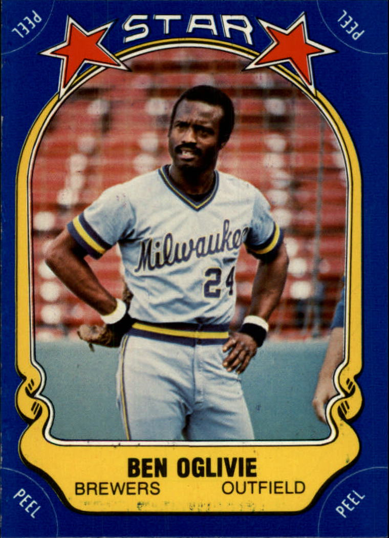1981 Fleer Star Stickers #14 Ben Oglivie