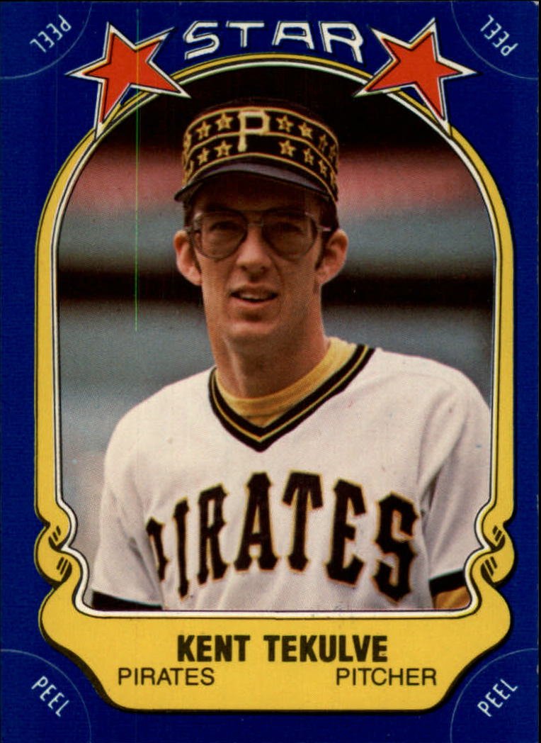 1981 Fleer Star Stickers #21 Kent Tekulve