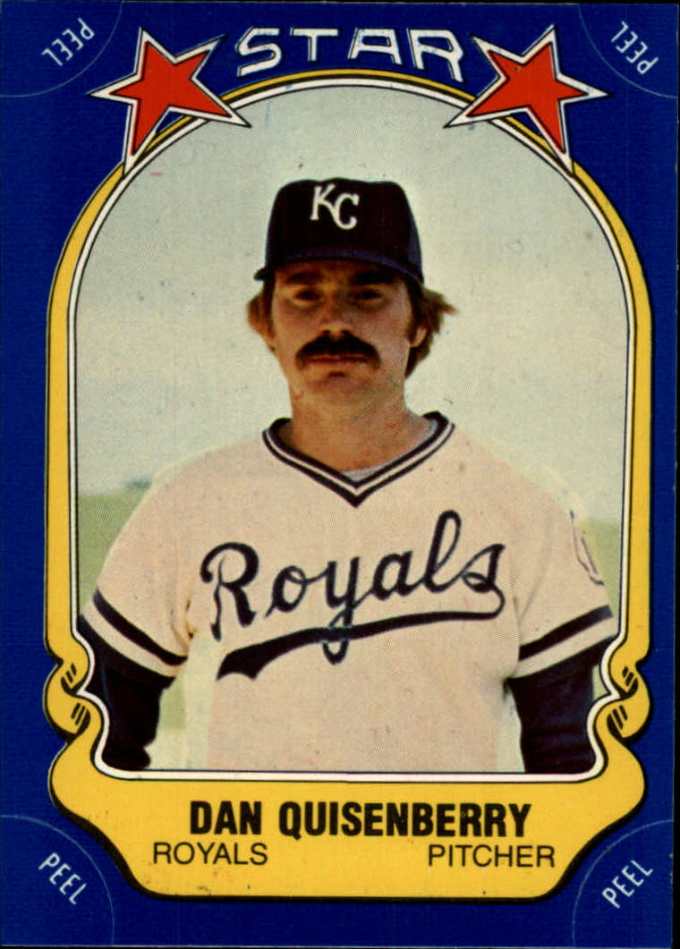 1981 Fleer Star Stickers #24 Dan Quisenberry