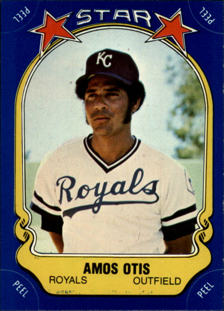 1981 Fleer Star Stickers #28 Amos Otis