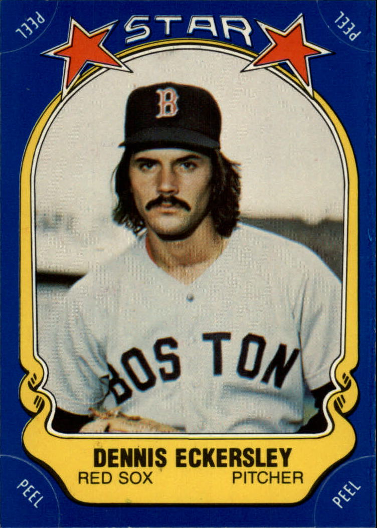 1981 Fleer Star Stickers #34 Dennis Eckersley