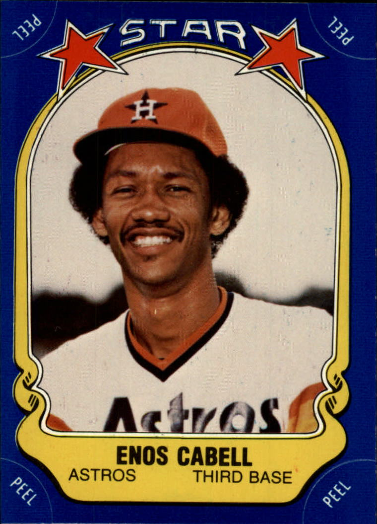 1981 Fleer Star Stickers #36 Enos Cabell