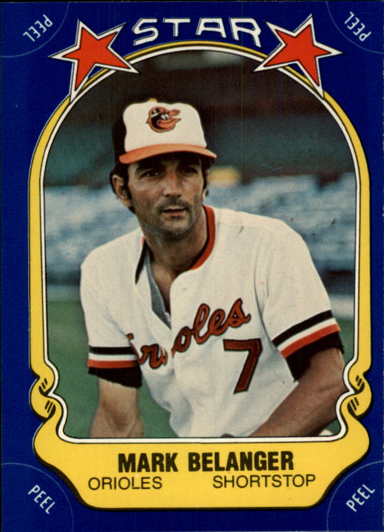 1981 Fleer Star Stickers #39 Mark Belanger