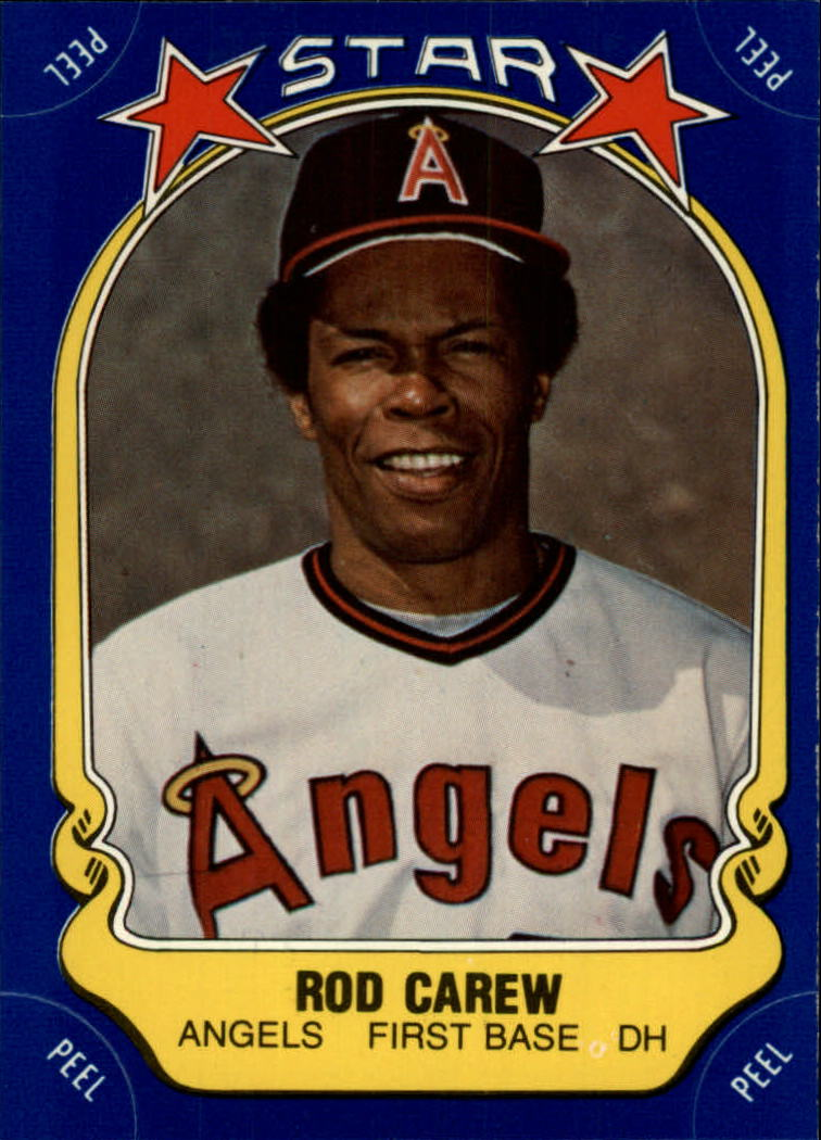 1981 Fleer Star Stickers #40 Rod Carew