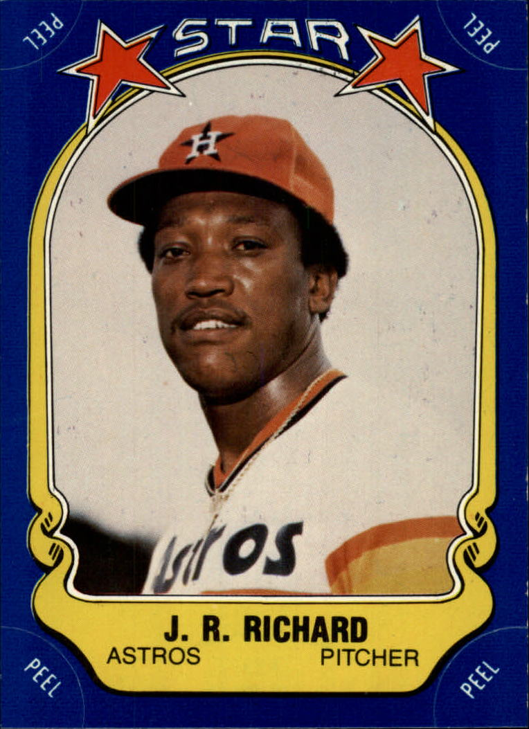 1981 Fleer Star Stickers #44 J.R. Richard