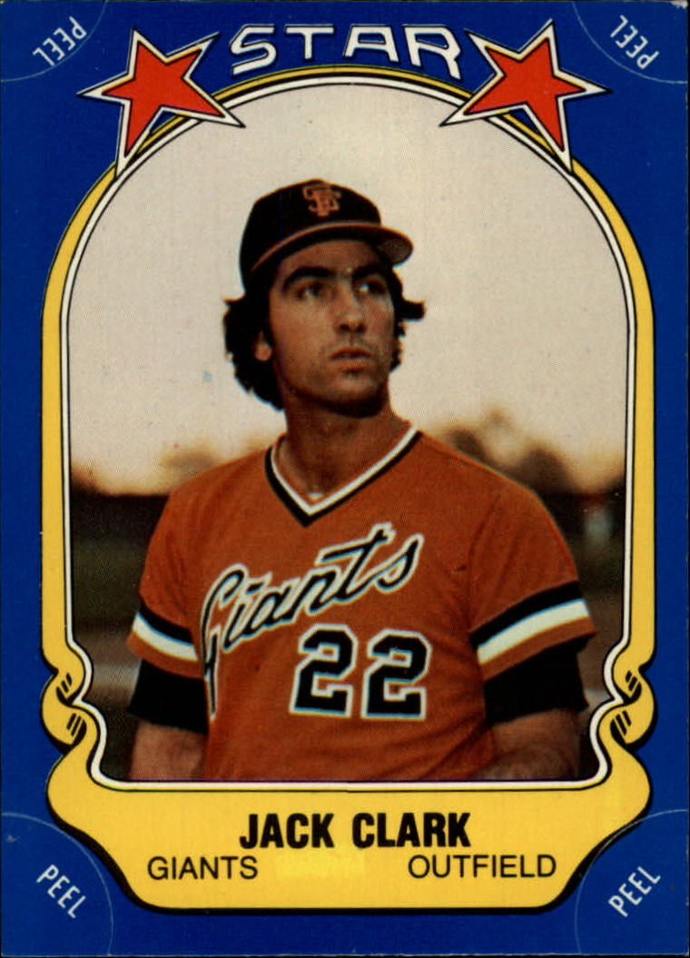 1981 Fleer Star Stickers #52 Jack Clark