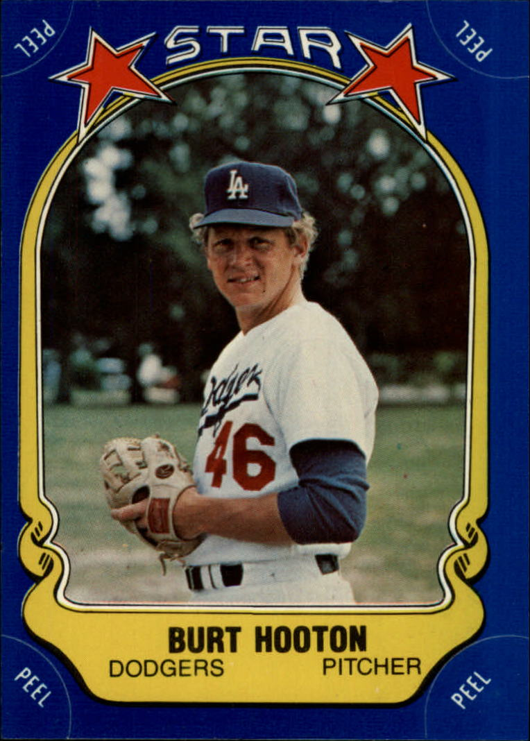 1981 Fleer Star Stickers #61 Burt Hooton