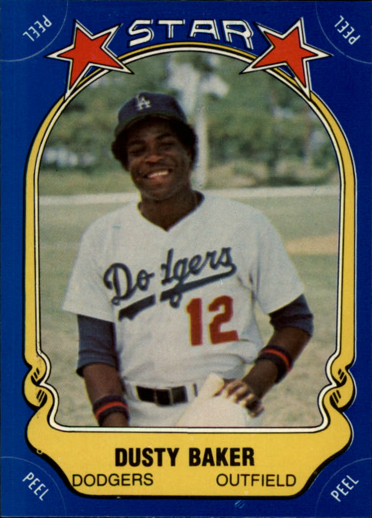 1981 Fleer Star Stickers #62 Dusty Baker