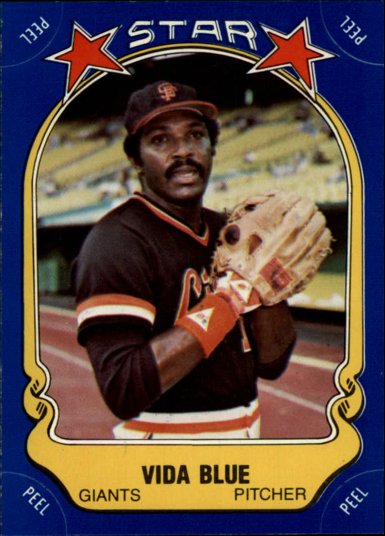 1981 Fleer Star Stickers #63 Vida Blue