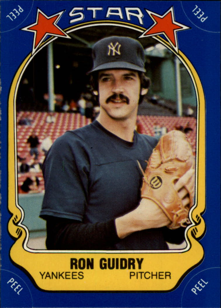 1981 Fleer Star Stickers #76 Ron Guidry