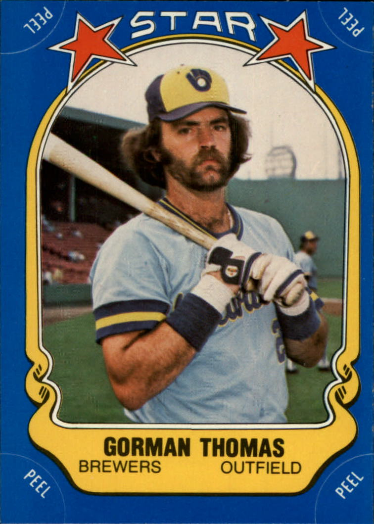 1981 Fleer Star Stickers #77 Gorman Thomas