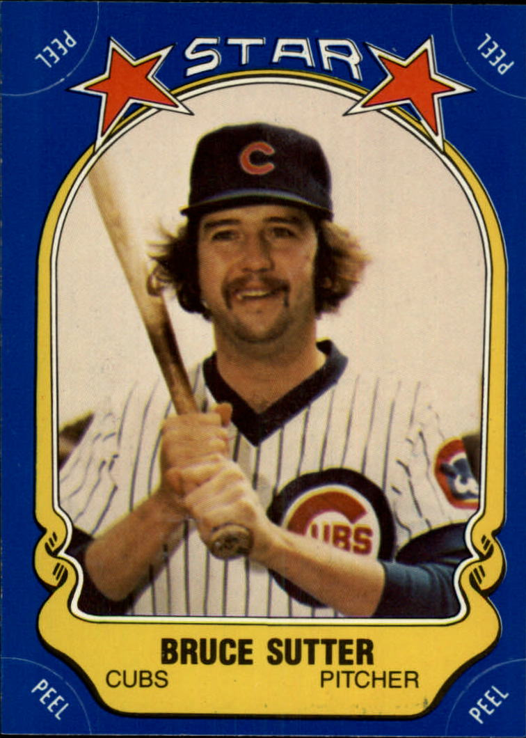 1981 Fleer Star Stickers #80 Bruce Sutter