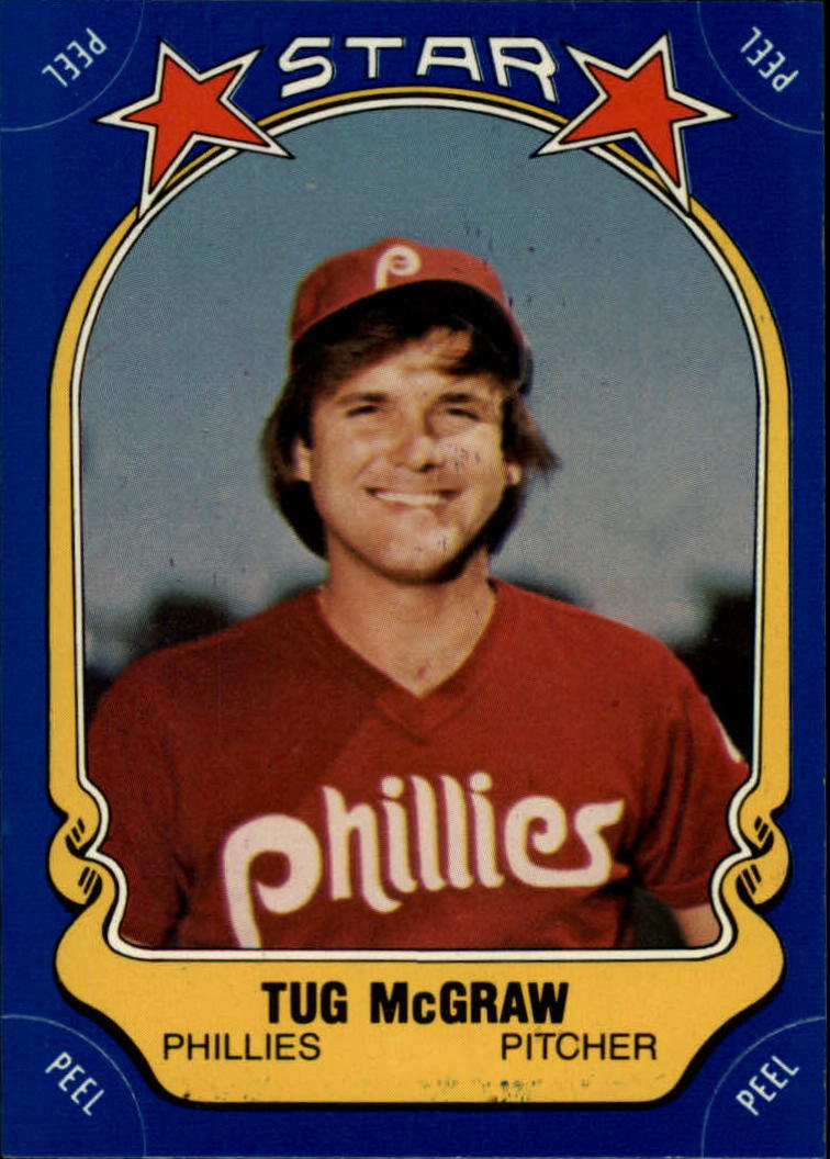 1981 Fleer Star Stickers #83 Tug McGraw