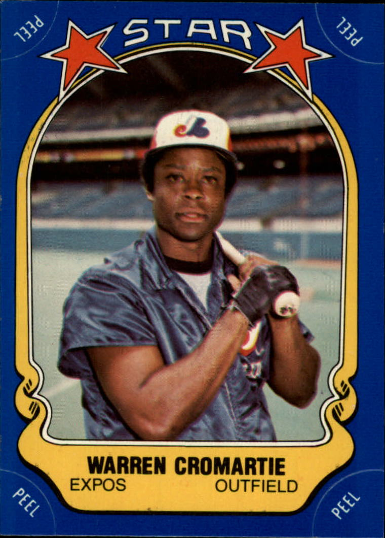 1981 Fleer Star Stickers #92 Warren Cromartie