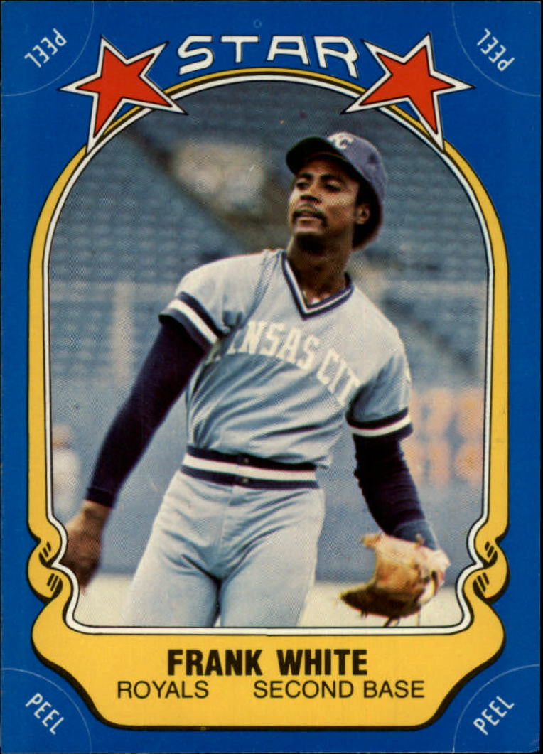 1981 Fleer Star Stickers #97 Frank White
