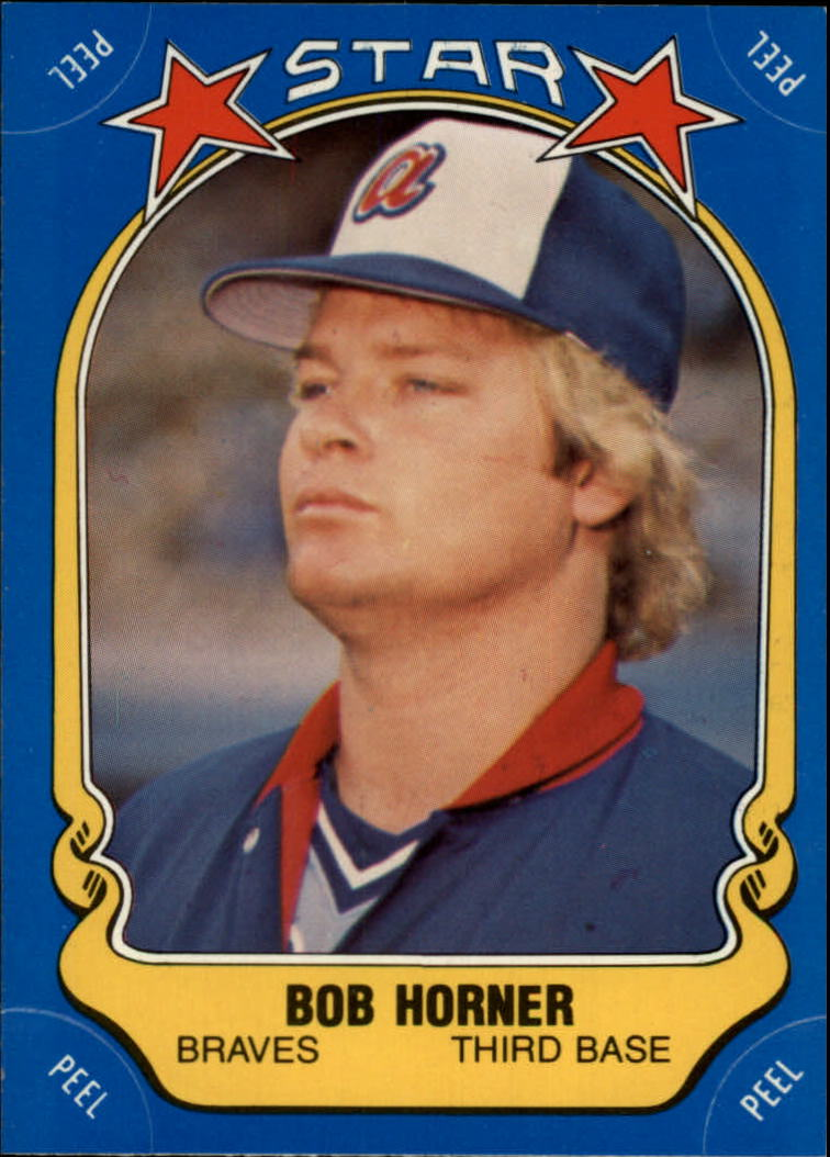 1981 Fleer Star Stickers #99 Bob Horner