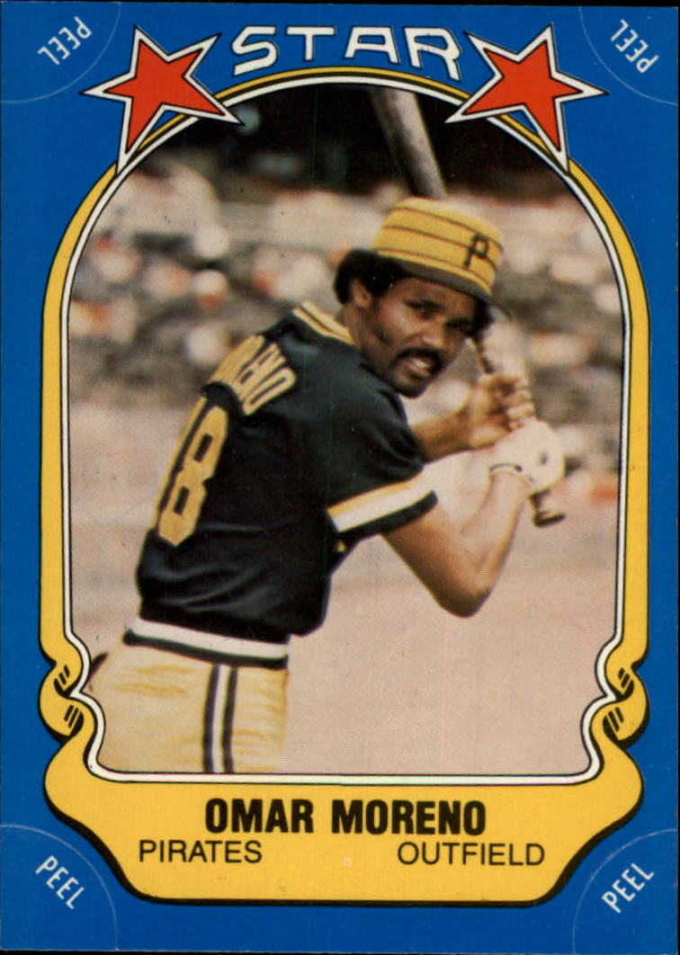 1981 Fleer Star Stickers #100 Omar Moreno