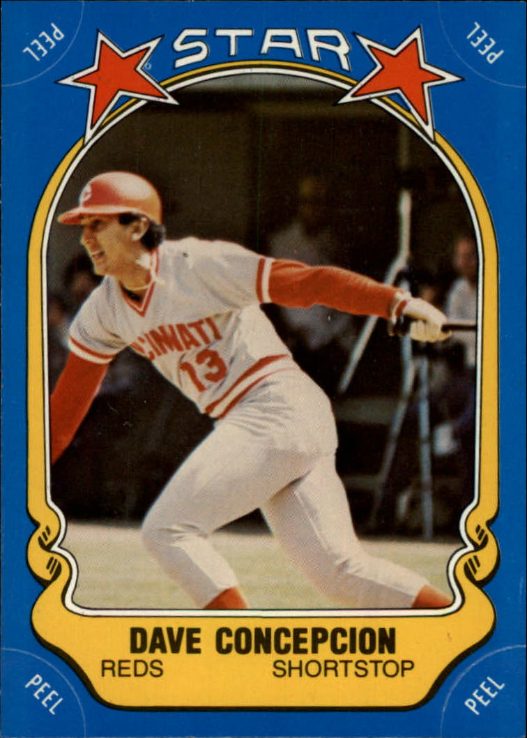 1981 Fleer Star Stickers #101 Dave Concepcion