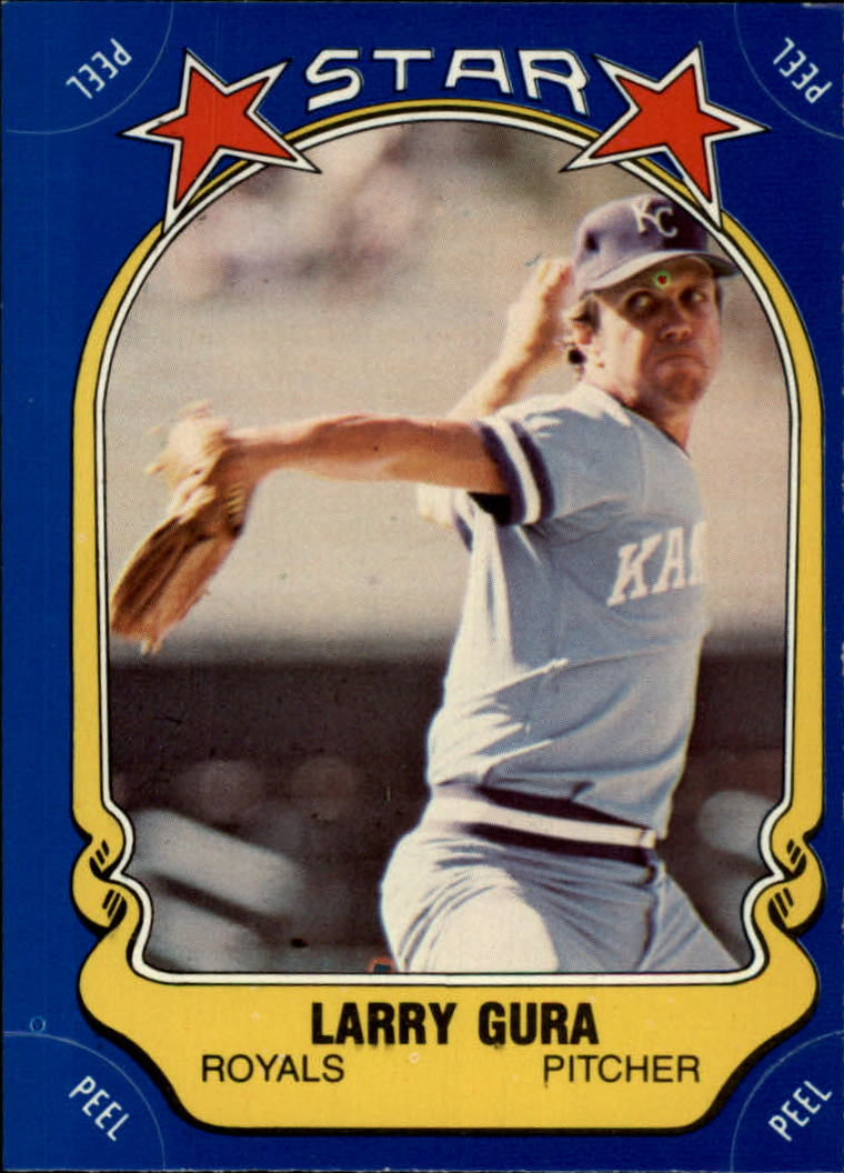 1981 Fleer Star Stickers #102 Larry Gura