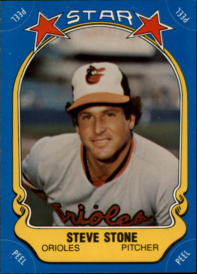 1981 Fleer Star Stickers #104 Steve Stone