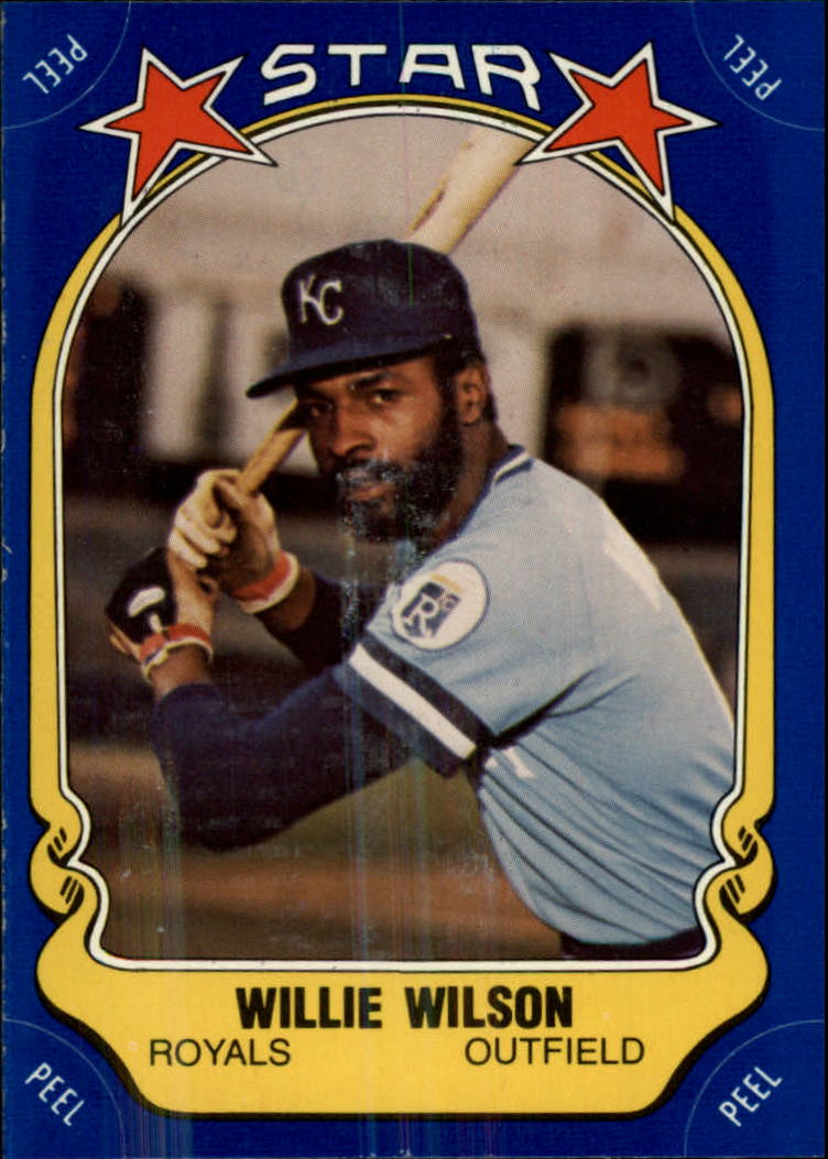 1981 Fleer Star Stickers #106 Willie Wilson