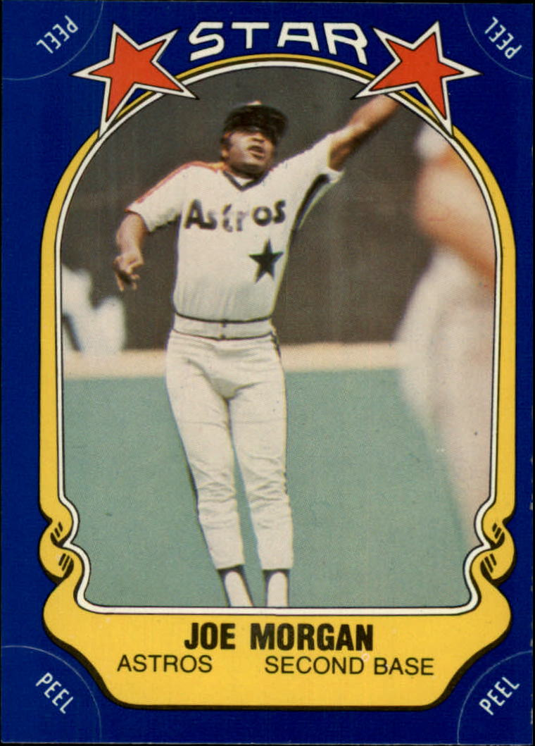 1981 Fleer Star Stickers #109 Joe Morgan