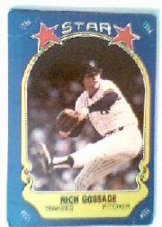 1981 Fleer Star Stickers #118 Rich Gossage