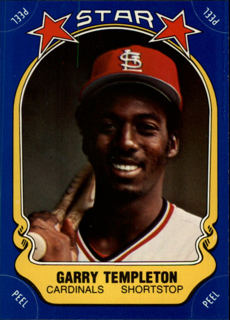 1981 Fleer Star Stickers #125 Garry Templeton