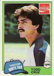 1981 Coke Team Sets #26 Todd Cruz
