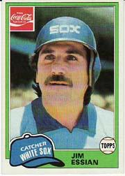 1981 Coke Team Sets #28 Jim Essian