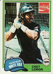 1981 Coke Team Sets #32 Chet Lemon