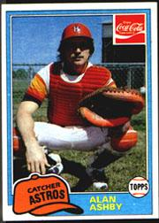 1981 Coke Team Sets #61 Alan Ashby