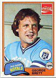 1981 Coke Team Sets #74 George Brett
